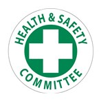 """Health & Safety Committee"" Hard-hat Emblem"