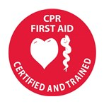 CPR First Aid Certified And Trained Hard Hat Emblem