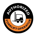 """Authorized Forklift Operator"" Hard-hat Emblem"