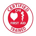 Certified CPR First Aid Trained Hard Hat Emblem