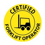"""Certified Forklift Operator"" Hard-hat Emblem (Lighter Weight)"