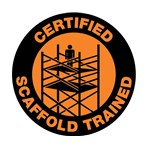 """Certified Scaffold Trained"" Hard-hat Emblem"