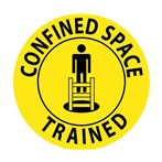 Confined Space Trained Hard Hat Emblem