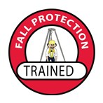Fall Protection Trained Hard Hat Emblem