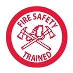 """Fire Safety Trained"" Hard-hat Emblem"