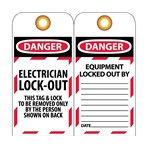 DANGER Electrician Lockout Tag