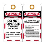 DANGER Do Not Operate Equipment Lockout Tags With Lockout Procedures