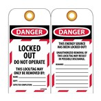 DANGER Locked Out/Do Not Operate Tags