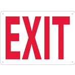 Exit Signs, Red on White