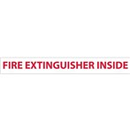 "Fire Extinguisher Inside Sign, 2"" x 16"""