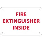 Fire Extinguisher Inside Signs, Red on White