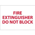 "Fire Extinguisher Do Not Block Signs, 7"" x 10"""