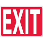 Exit Signs, White on Red