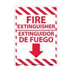 "Fire Extinguisher Signs, 10"" x 14"" (Bilingual)"