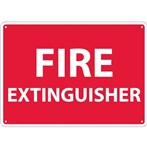 "Fire Extinguisher Signs, 10"" x 14"""