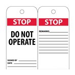 STOP Do Not Operate Tags
