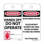 DANGER Hands Off Do Not Operate Tags