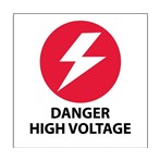 """Danger High Voltage"" Hard-hat Emblem"