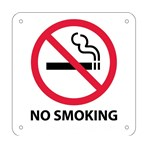"No Smoking (with graphic) Signs, 7"" x 7"""