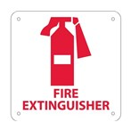 "Fire Extinguisher Signs with Graphic, 7"" x 7"""