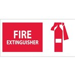 "Fire Extinguisher Signs with Graphic, 7"" x 17"""