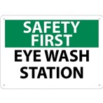 SAFETY FIRST Eye Wash Station Sign