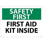 SAFETY FIRST First Aid Kit Inside Sign
