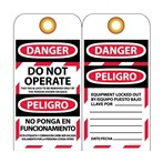 DANGER Do Not Operate Tag (Bilingual)