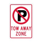 No Parking (graphic) Tow Away Zone