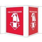 "Fire Extinguisher Visi Signs, 6"" x 9"""