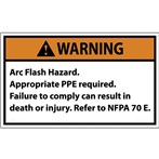 WARNING Arc Flash Hazard ANSI Label