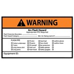WARNING Arc Flash Hazard Appropriate PPE Required ANSI Label