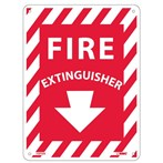 "Fire Extinguisher Signs, 9"" x 12"" and 5"" x 4"""