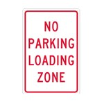 No Parking Loading Zone