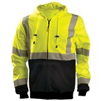 OccuNomix LUX-HZSWTBX ANSI Class 3 X-Back Black Bottom Yellow/Lime Safety Hoodie Sweatshirt