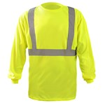 OccuNomix  ANSI Class 2 Hi-Vis Lime X-Back Long-Sleeve Safety T-Shirt, LUX-LST2BX-Y