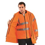 OccuNomix LUX-TJFS-OS ANSI Class 3 Premium 5-in-1 Parka, Orange