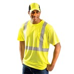 OccuNomix ANSI Class 2 Classic Standard Wicking T-Shirt,  Yellow, LUX-SSETP2