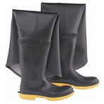 "Onguard Storm King Hip Waders, PVC/Polyester, Steel Toe & Midsole, Sipe Grip Outsoles, 35"" Ht."