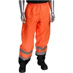 PIP® 318-1757 ANSI 107 Class E Black Bottom Safety Pants – Orange