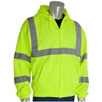 PIP® 323-HSSELY ANSI Type R Class 3 Yellow/Lime Safety Hooded Sweatshirt