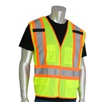 PIP® ANSI Class 2 Safety Vest, Mesh, Breakaway, Two-Tone Five Pocket, Lime