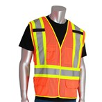 PIP® ANSI Class 2  Safety Vest, Mesh, Breakaway, Two-tone Five-pocket, 302-0212OR, Orange