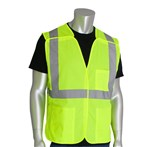 PIP® ANSI Class 2 Safety Vest, Solid, Breakaway, Lime