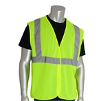PIP® ANSI Class 2 Safety Vest, Mesh, Hook & Loop, Lime