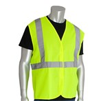 PIP® ANSI Class 2 Safety Vest, Solid, Hook & Loop, Lime
