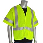 PIP®  ANSI Class 3 5.5-CAL AR/FR Mesh One-pocket Lime Safety Vest
