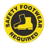 "Safety Floor Sign, Anti-slip – ""SAFETY FOOTWEAR REQUIRED"""
