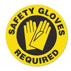 "Safety Floor Sign, Anti-slip – ""SAFETY GLOVES REQUIRED"""