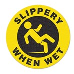 "Safety Floor Sign, Anti-slip – ""SLIPPERY WHEN WET"""